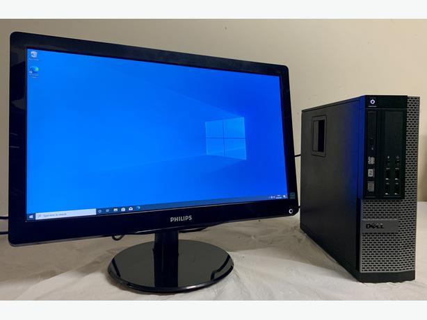 SSD Dell Optiplex I5 Quad Computer Desktop Pc & Phillips 20 widescreen