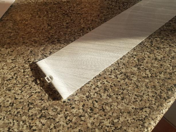 White Vertical replacement slats with weights and chain
