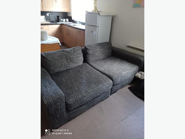 Large grey sofa