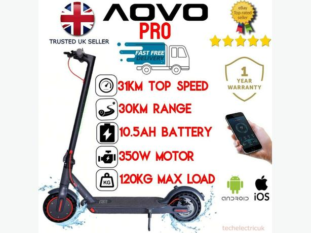 🇬🇧2021 350w AOVO Pro elec e scooter 35km10.5AHbattery  SHOWROOM inc App