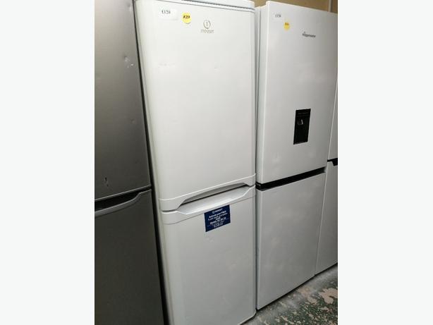 Indesit fridge freezer white with warranty at Recyk Appliances