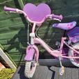 14 inch girls bike with helmet