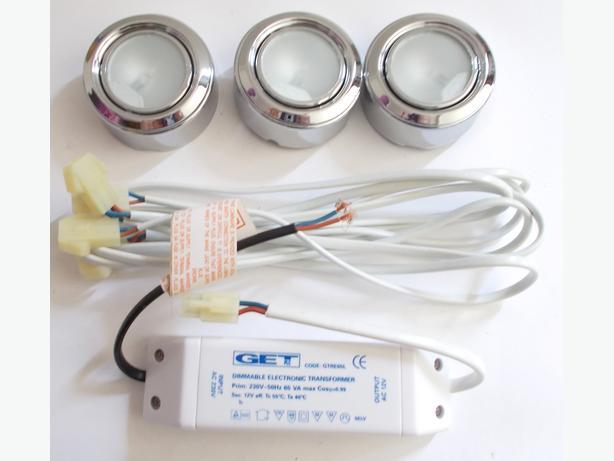 Triple 20w Low Voltage Cabinet Light Kit GDLLCK320C