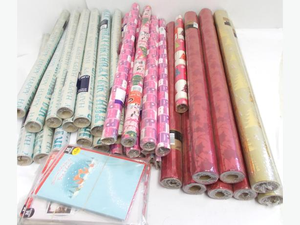 Joblot of Gift/Wrapping Paper Birthday & Christmas
