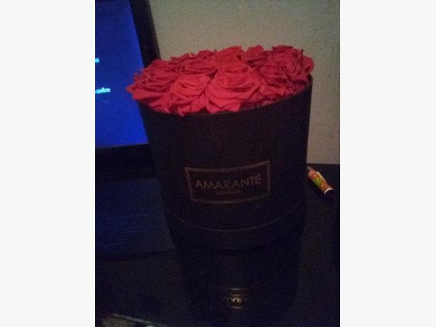hat box amarante rec roses