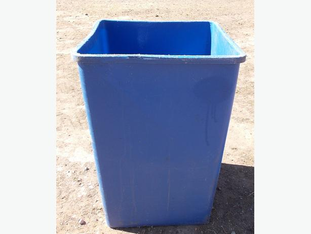 Tall Square Plastic Blue Tub Ideal Planter
