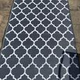 Outdoor rug, grey and white