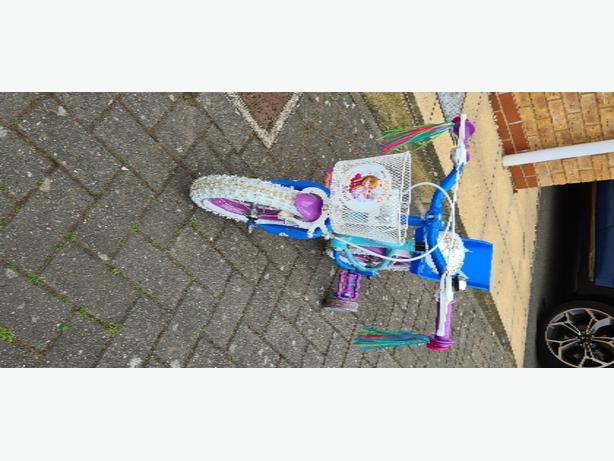 disney girls frozen 12 inch bike & helmet