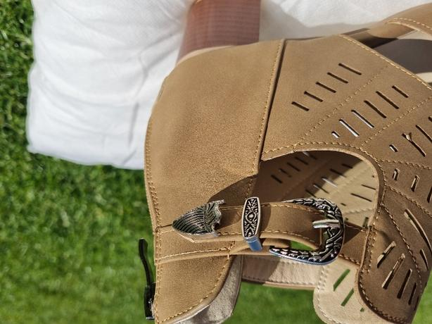 brown summer sandals size 40