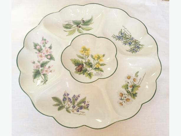 Royal Worcester  Herbs chip and dip tray