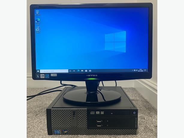 """DELL OPTIPLEX PC COMPUTER & 19"""" LCD MONITOR I3"""
