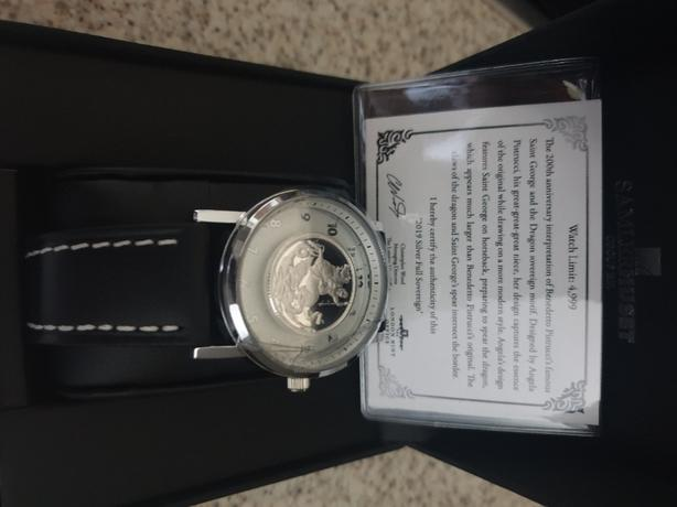solid silver sovereign watch
