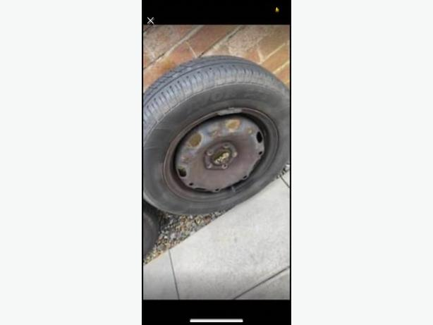14inch 5 stud steel rims with tyres