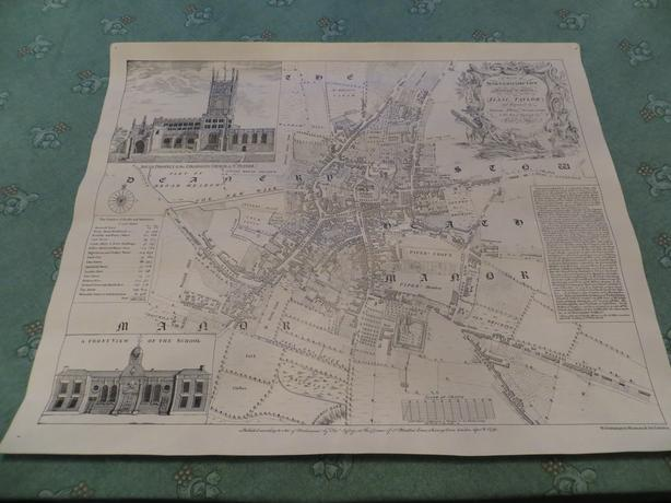 collectable reproduction print of old map of Wolverhampton