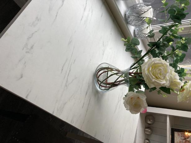 marble effect dinning table