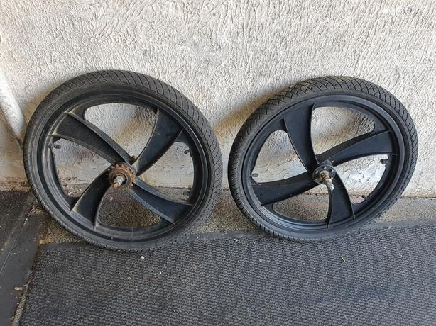 20 inch BMX Mag Wheels. 4 spoke.