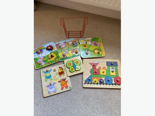 Various Wooden Jigsaw Puzzles