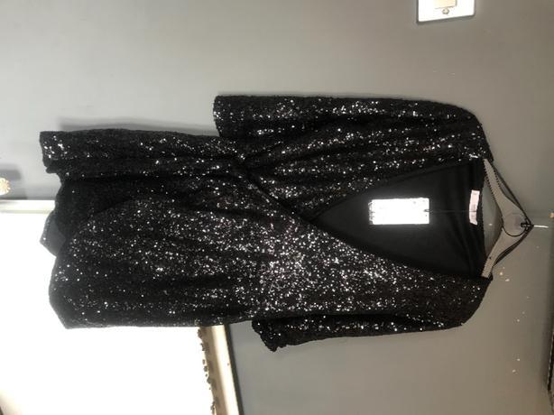 black sequin size 10 Mango dress