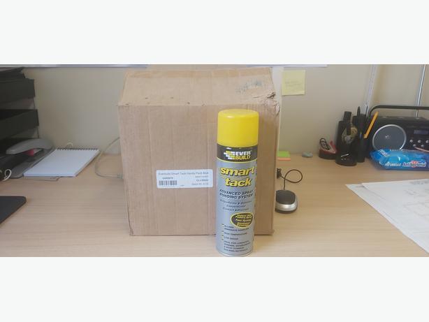 spray glue, smart tack by Everbuild.