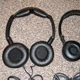 Foldable AKG and skullcandy headphones