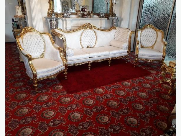 French Louis XVI Style Lounge Suite