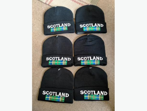 Wooly Hats with Scotland on.. Brand new