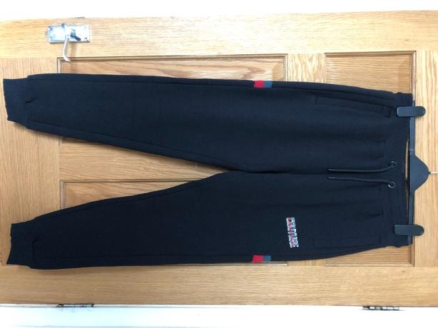 COUTURE MENS BLACK JOGGERS | LARGE