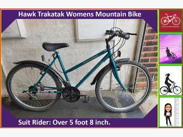 Hawk Trakatak Womens Bike. 18 speed. 26 inch wheels.