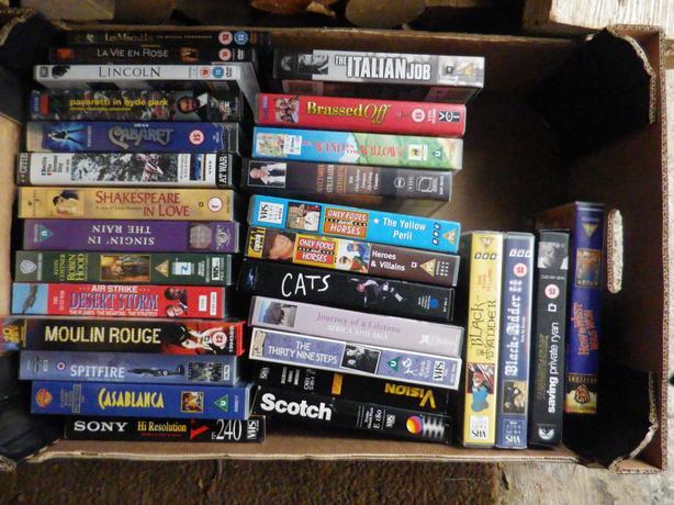 LARGE BOX VHS VIDEOS