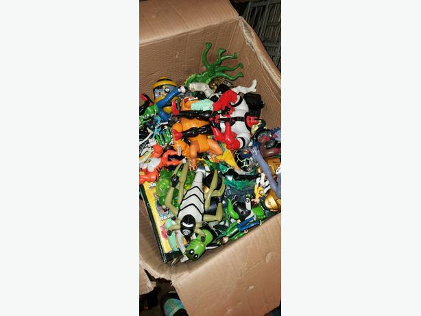 collection of ben 10 toys large box full