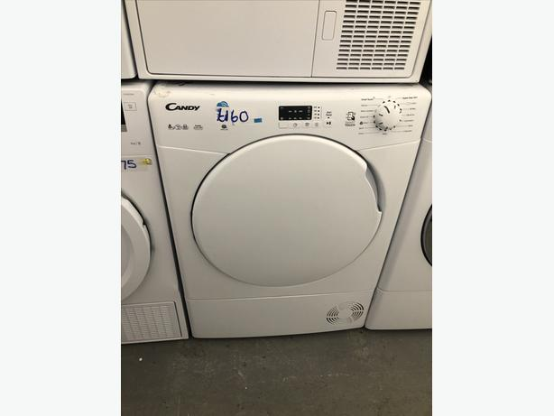 🇬🇧🇬🇧 GRADED CANDY 8KG CONDENSER DRYER- WITH GUARANTEE- PLANET 🌍 APPLIANCE 🇬🇧🇬🇧