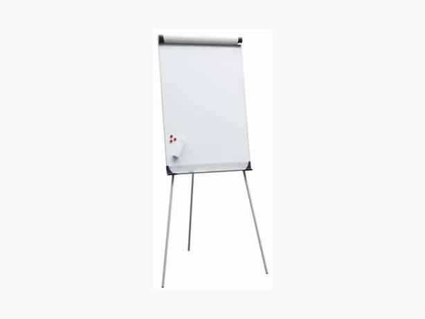 2 x flip chart boards with paper