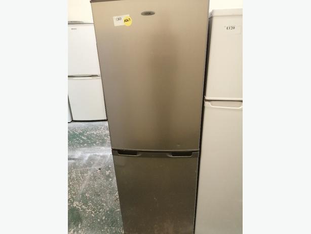 Logik Fridge freezer silver with warranty at Recyk Appliances