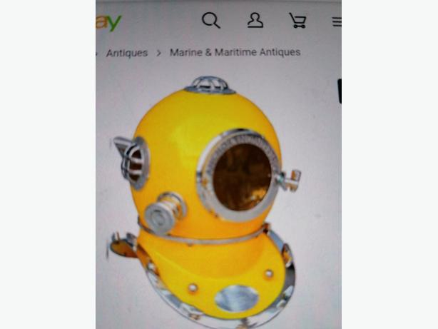 Deep sea divers helmit