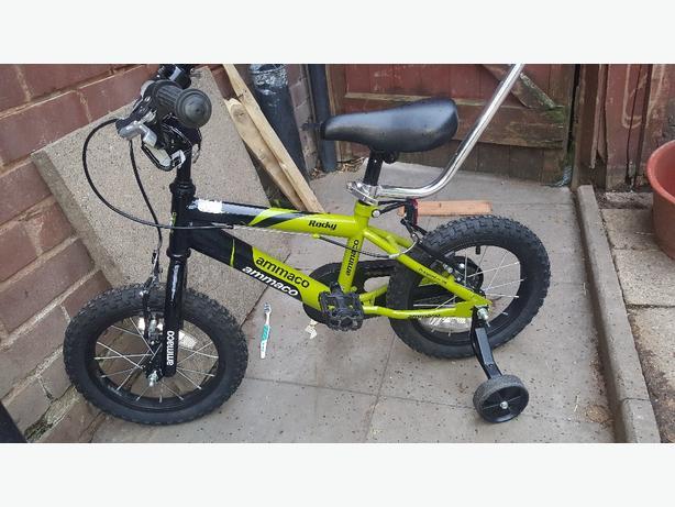 kids rocky ammaco push bike