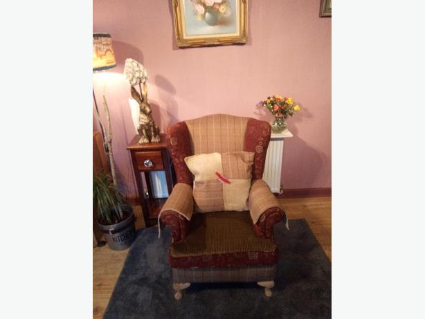 re upholstered armchair
