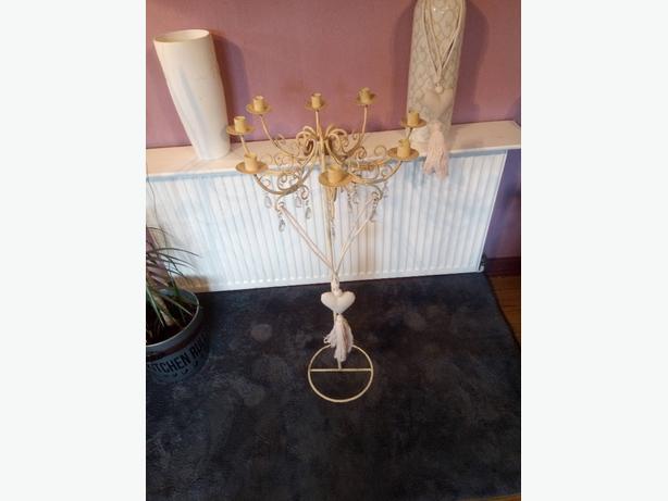 Antique cream Metal Candleabra