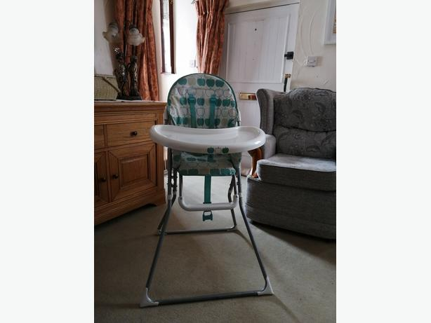 mothercare cotbed and mattress and ToysRUs highchair
