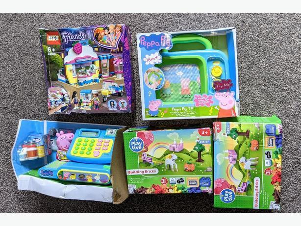 NEW Lego, Peppa pig cash register tv toys