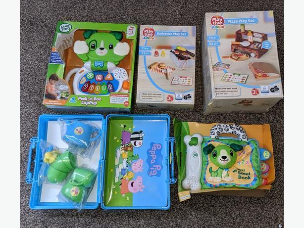 NEW leapfrog,Peppa pig & playtive toys
