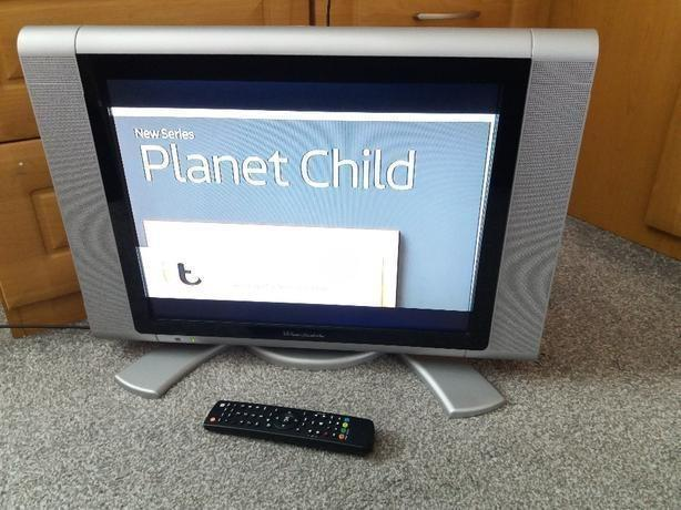 """20"""" widescreen LCD TV Built-in Freeview Silver Warfedale"""