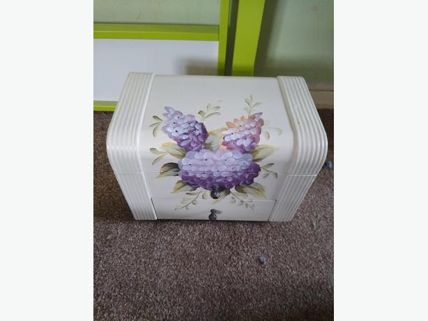 large wooden jewelry box