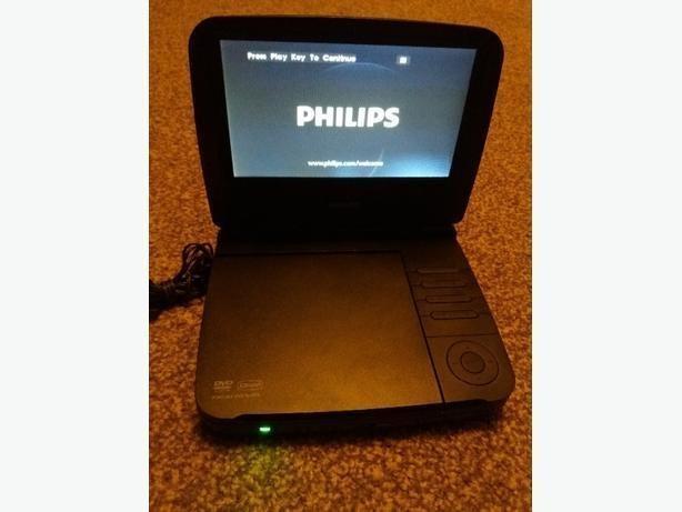 """philips portable dvd player pet721D/05 7"""" Inbuilt rechageable"""