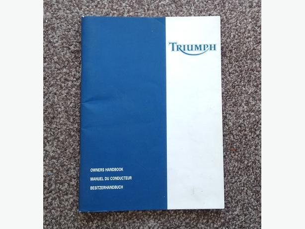 Triumph 955I Owners Manual.