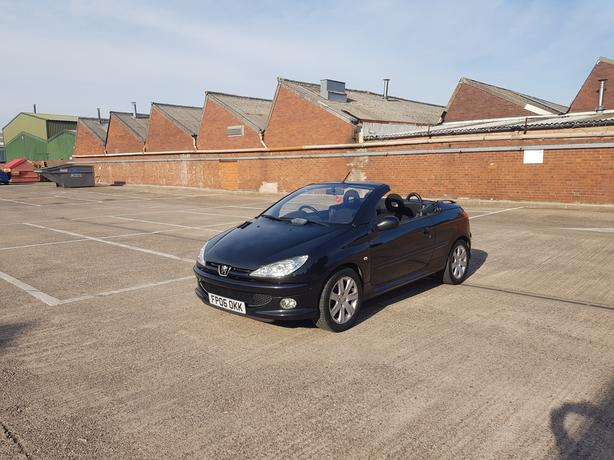 Automatic 206cc convertable 1.6 drives great, long mot, low mieage, drives great