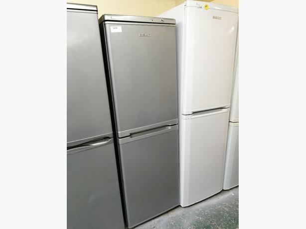 Beko Fridge freezer silver 3 drawers with warranty at Recyk Appliances