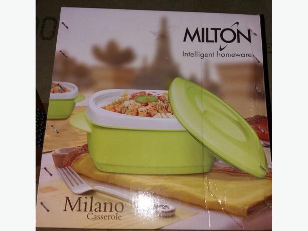 Brand new boxed milano casserole set of 3pcs white&green