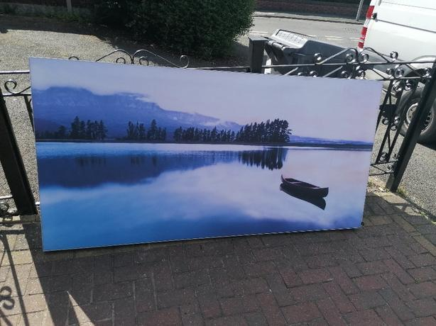 Fabric photo on aluminium frame
