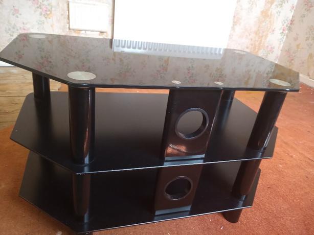 black glass tv stand/unit