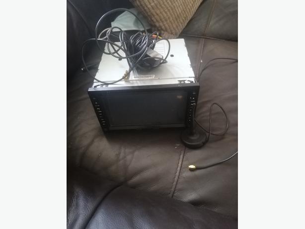 Din car stereo with sat nav TV etc